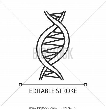 Left-handed Dna Helix Linear Icon. Z-dna. Deoxyribonucleic, Nucleic Acid Structure. Genetic Code. Ge