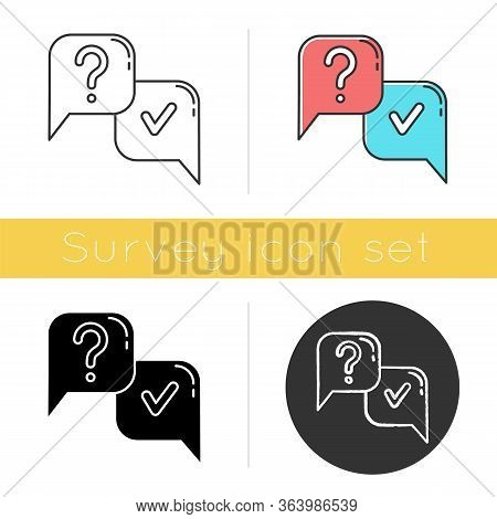 Question And Answer Icon. Faq Sign. Question Mark In Speech Bubble. Ask And Answer. Chat, Dialogue.