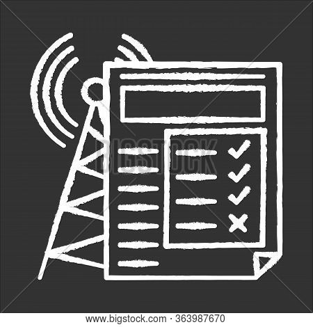 Service Quality Survey Chalk Icon. Internet Connection Poll. Research. Consumer Review. Customer Sat