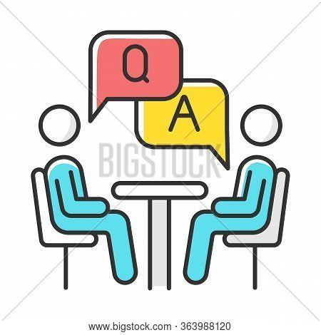 Personal Interview Survey Color Icon. Questions And Answers Poll. Social Research. Consumer, Custome