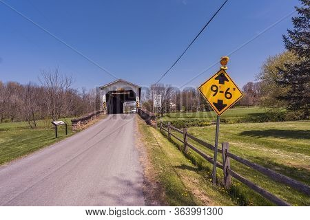 Weavers Mill Covered Bridge Entrance