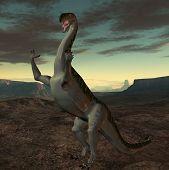 3 D Render of an Plateosaurus-3D Dinosaur poster