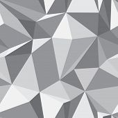 Diamond shape seamless pattern - abstract polygon geometric mosaic texture poster