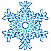 Decorative abstract snowflake. poster
