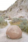 Cannonball Concretions badlands poster