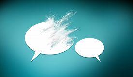Speech Bubbles Icon Symbold Crashing . Social Opinion Problems And Diplomacy Debating. Aggresive Dia