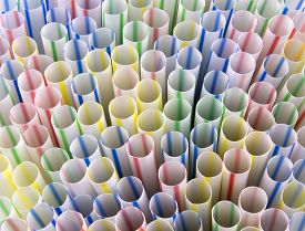 Straw Straws Plastic Drinking Background Colourful Full Screen Single Use Stock, Photo, Photograph,