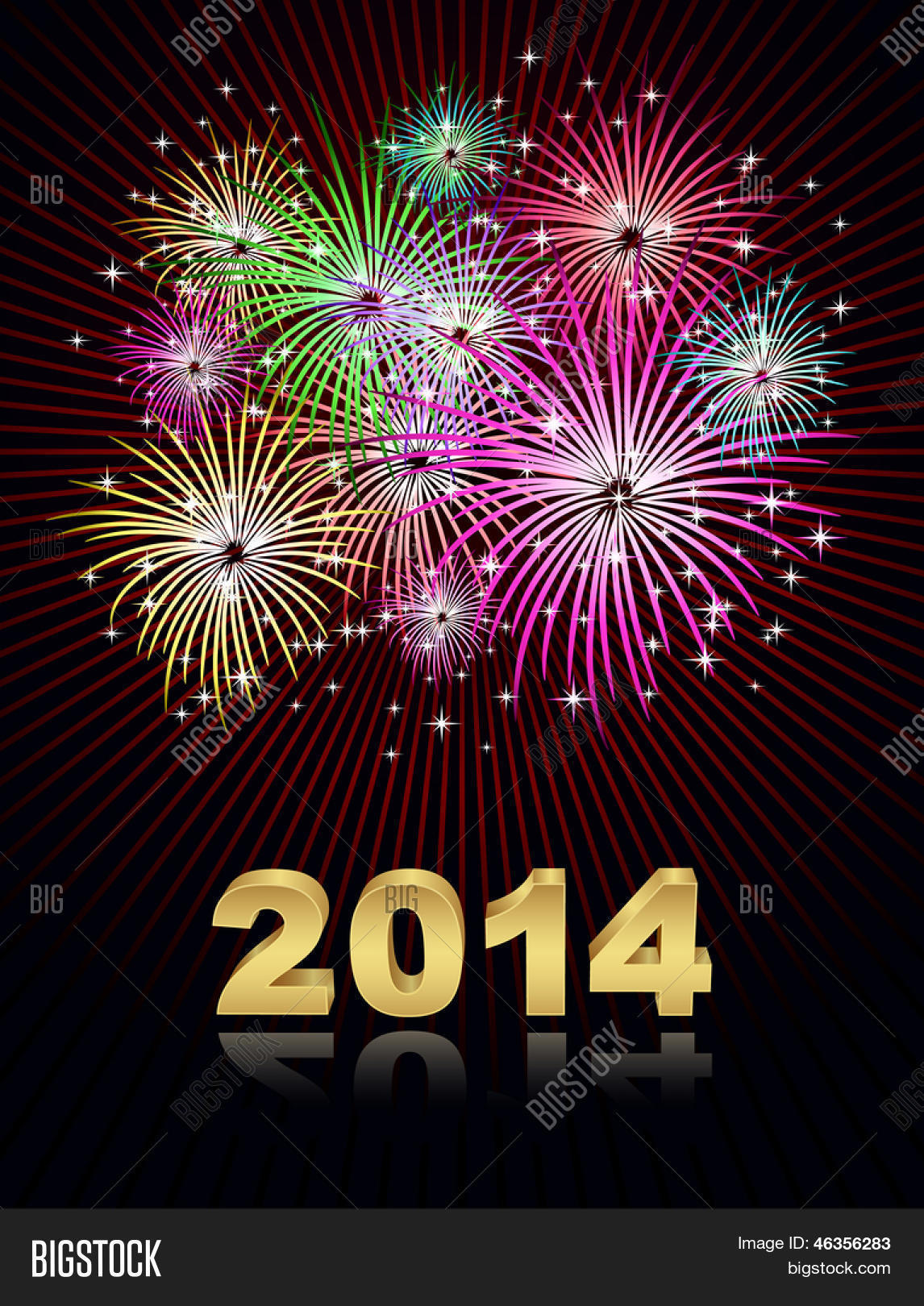 new year 2014 fireworks vector amp photo bigstock