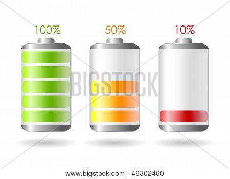 Vector battery illustrations