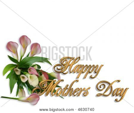 Mothers Day Card Calla Lilies