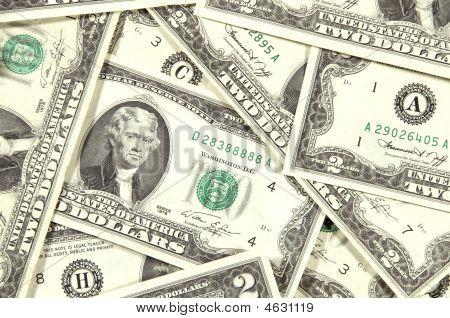 Collage Or Thomas Jefferson $2 Bills