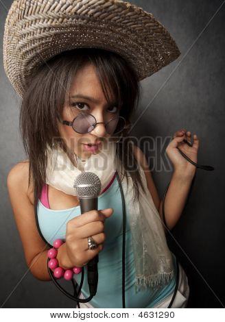 Beautiful Young Singer