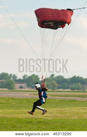 Landing Parachutist