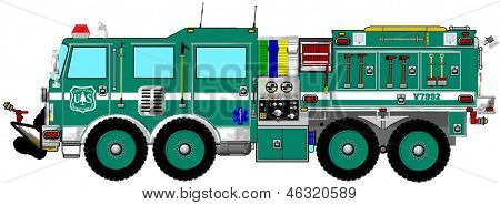 Green Brush Wildland Fire Truck