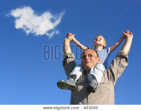 Grandfamily With Cloud