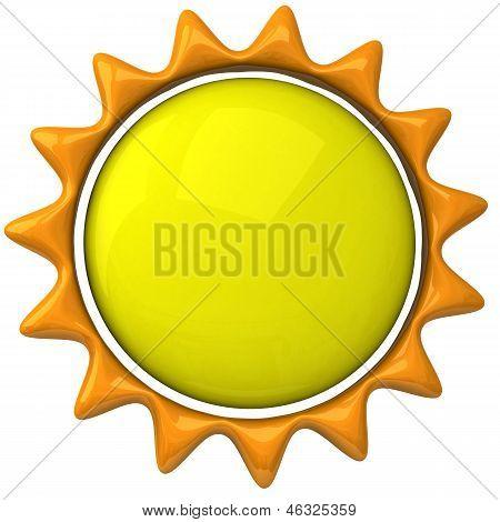Sun icon, 3d