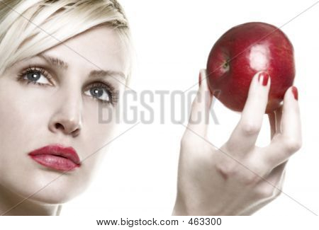 Portrait With Apple