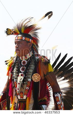 Unidentified Native American dancer at he NYC  Pow Wow in Brooklyn