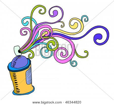 graffiti spray can abstract illustration