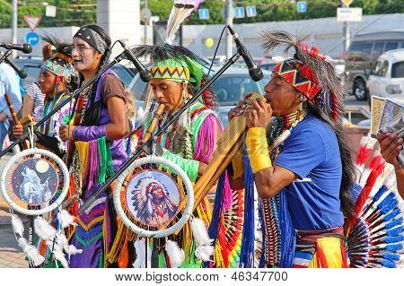 Música grupo tribal indio nativo americano