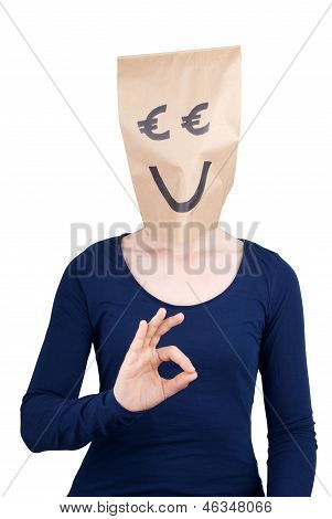 Euro Head Showing Okey Sign