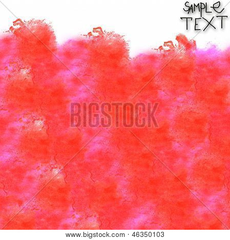 background art hand red watercolour brush texture isolated