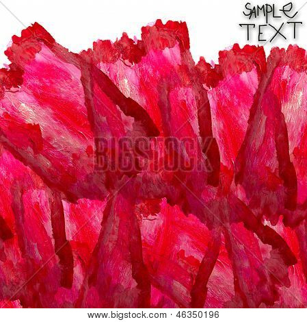 background art hand watercolour red brush texture isolated