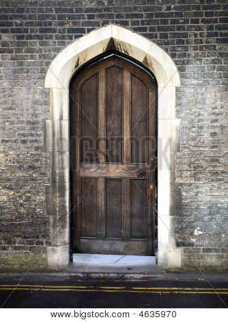 Gothic Arched Door In Cambridge Uk