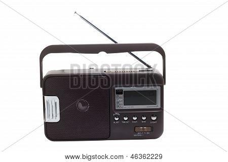 radio transistor portátil viejo sintonizador fm set aislado fashioned