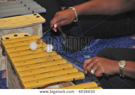 Xylophone being played