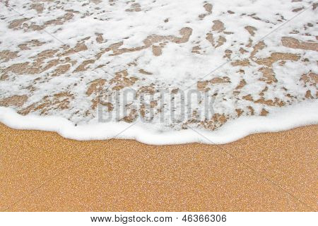 Sea wave on the sand.