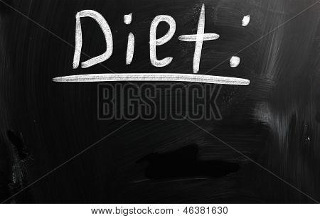Diet On Blackboard