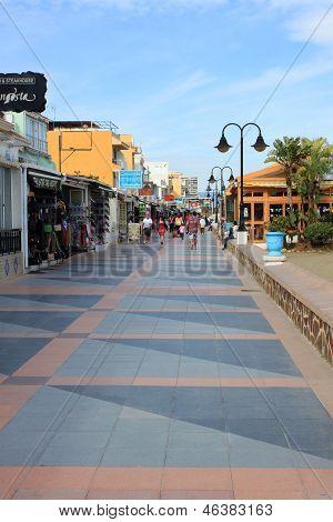 Torremolinos Walkway In Oceanfront