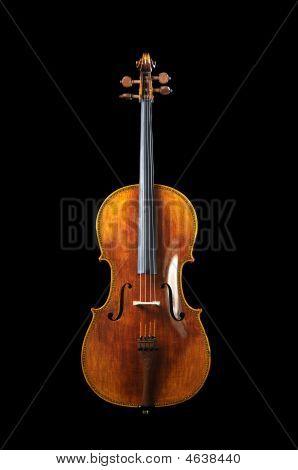 Cello auf einem schwarzen Hintergrund