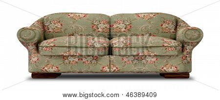 Old Floral Sofa Front