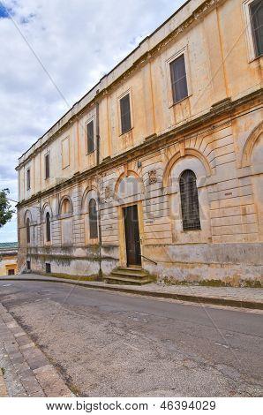 Seminary palace. Ugento. Puglia. Italy.