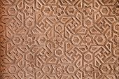 Geometrical pattern on Red Fort Agra India poster