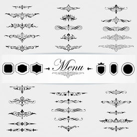Calligraphy design elements page decoration