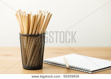 Pencil and notebook