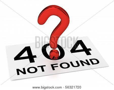 Red Question Point and Sheet (404 NOT FOUND)