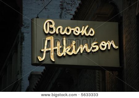 Brooks Atkinson Theatre Sign