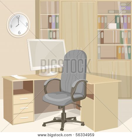Business office bright interior
