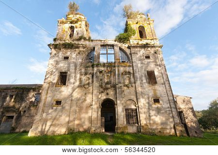 Old Abandoned Monastery In Portugal