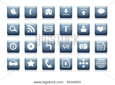 Clean web icon set.