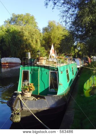 Narrowboat On River Cam