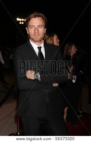 PALM SPRINGS - JAN 4:  Ewan McGregor at the Palm Springs Film Festival Gala at Palm Springs Convention Center on January 4, 2014 in Palm Springs, CA