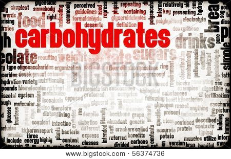 Carbohydrates Weight Loss Concept with Removing It poster