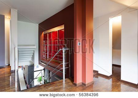 Red Landing Stairway