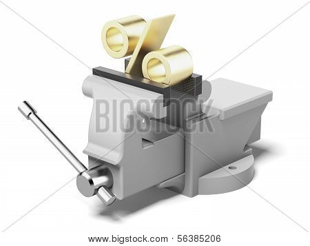 percentage sign in a  clamp