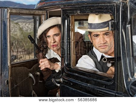 Serious Gangsters In Car